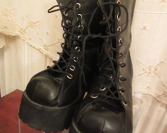 9bc600472e99 SALE-Boots Demonia  black 9 1 2  Demonia  high heels-platforms-good -China  goth grunge