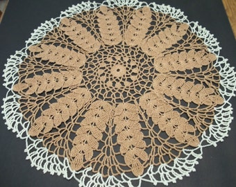 Bountiful Harvest  Wheat Centerpiece  Doily Table Topper