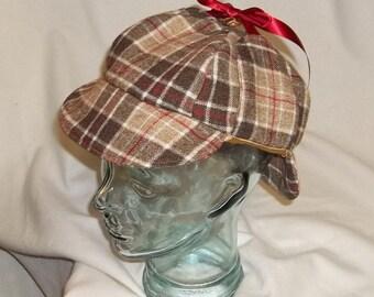 7fabc7a7671 Brown Plaid Deerstalker- Wool Hat