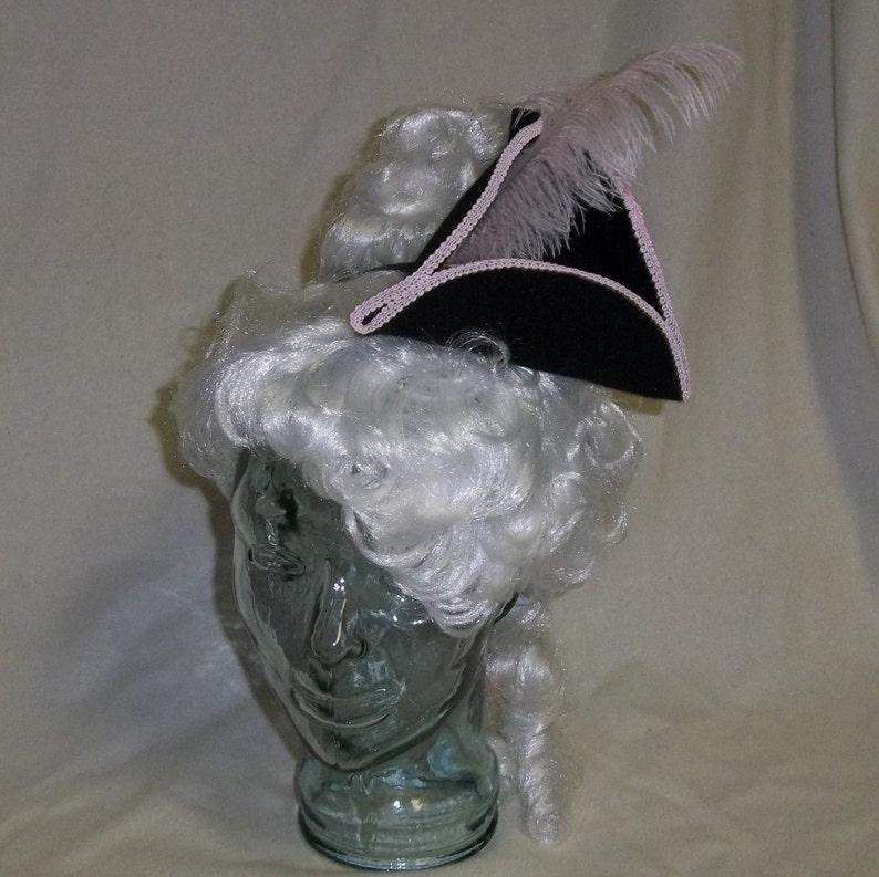 7caf1f21e96 Pirate Hat Fascinator Black and Pink Mini Tricorn Hat