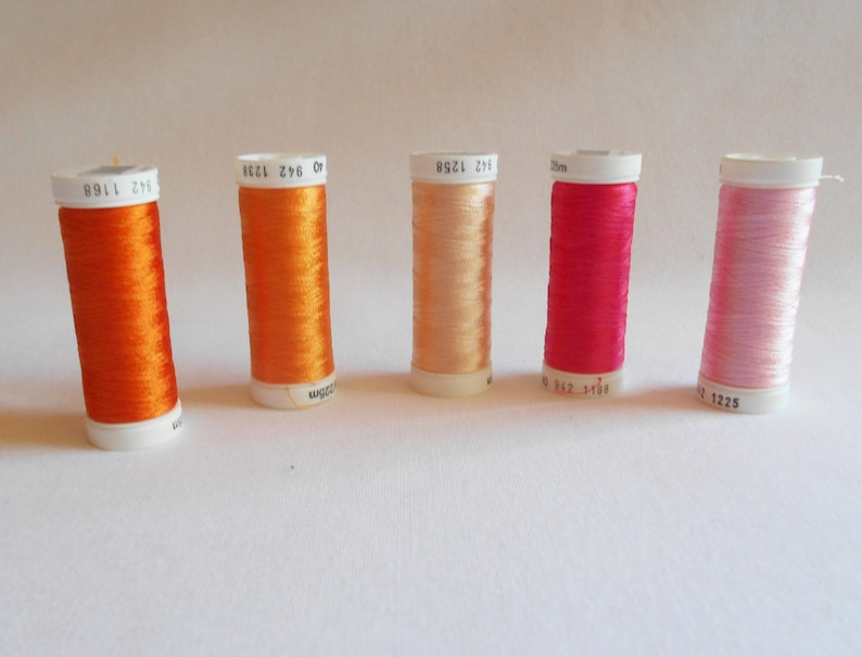 Sulky Rayon Thread From Pink To Red