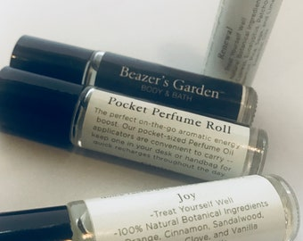Essential Oil Roll-On Perfume - Grab Bag Gift - Bath & Body - Bridesmaids - Teen Girl - Teachers Gifts - Unisex Easy Gifts