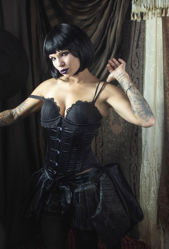 Deconstructed Burlesque Black Bustle
