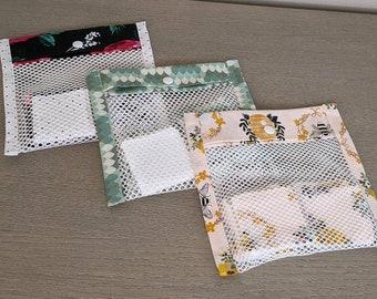 Reusable Eye Make-up Remover Pads (set of 7), with wash bag