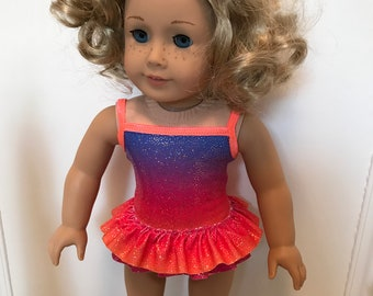 Suncatcher Rainbow Swimsuit made to fit dolls such as 18 inch American Girl doll