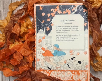 JACK-O-LANTERN- crinkled seam binding, hand-dyed shades of orange and rust, rayon seam binding