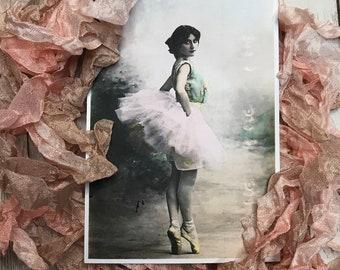 TUTU- crinkled seam binding, hand-dyed shades of blush pink and taupe, rayon seam binding