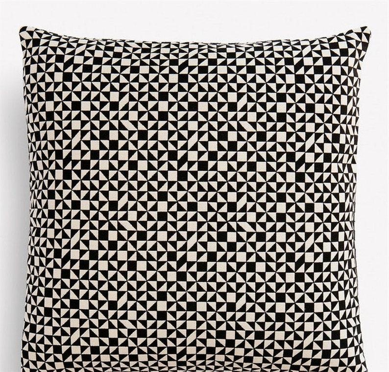 Checker Split MidCentury Modern Pillow Cover  Alexander image 0