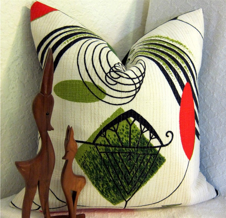 Mid Century Modern Pillow Cover  Atomic Mobiles  1950s image 0