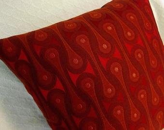 Mid Century Modern Pillow Cover - Maharam Fabric - Design 9297 Scarlet Josef Hoffmann