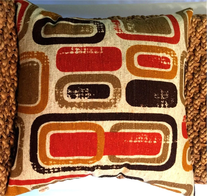 Mid-Century Geometric Danish Modern Pillow Cover   60s/70s image 0