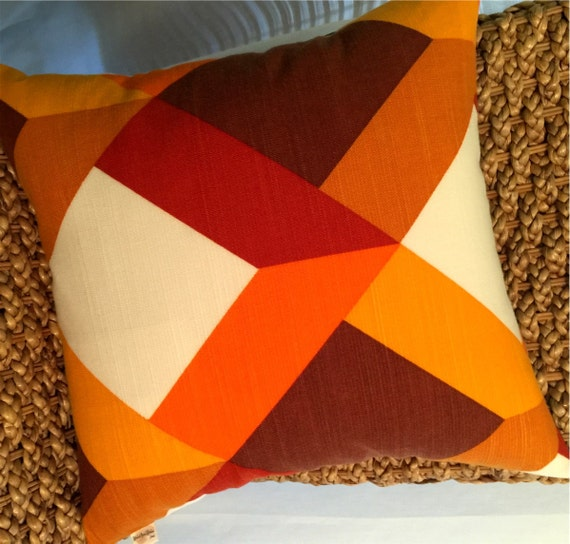 Danish Modern Vintage Textile Pillow