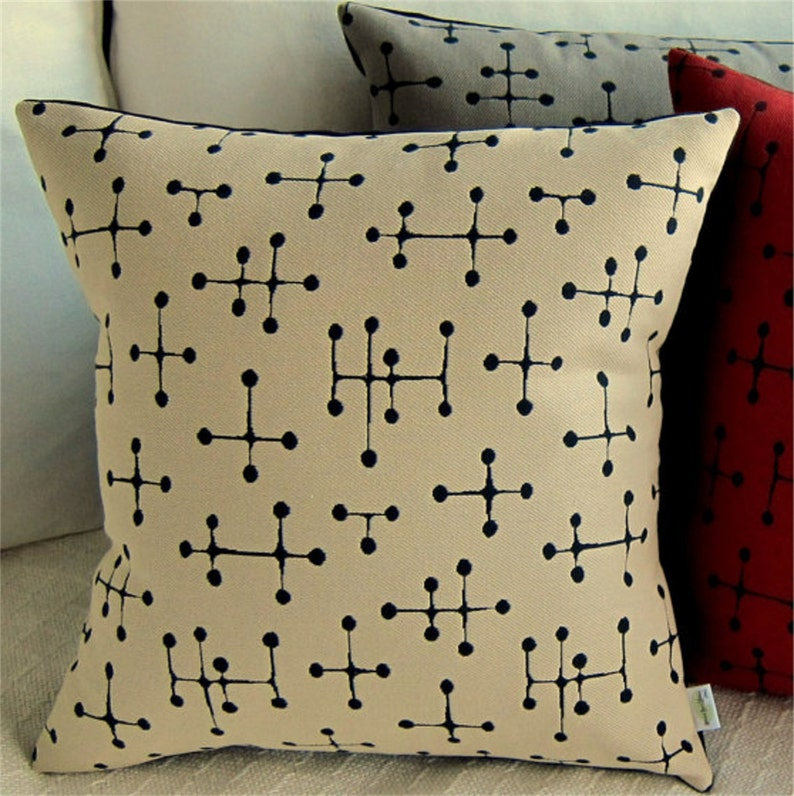 Eames Pillow Cover Mid Century Modern  Retro Small Dot image 0