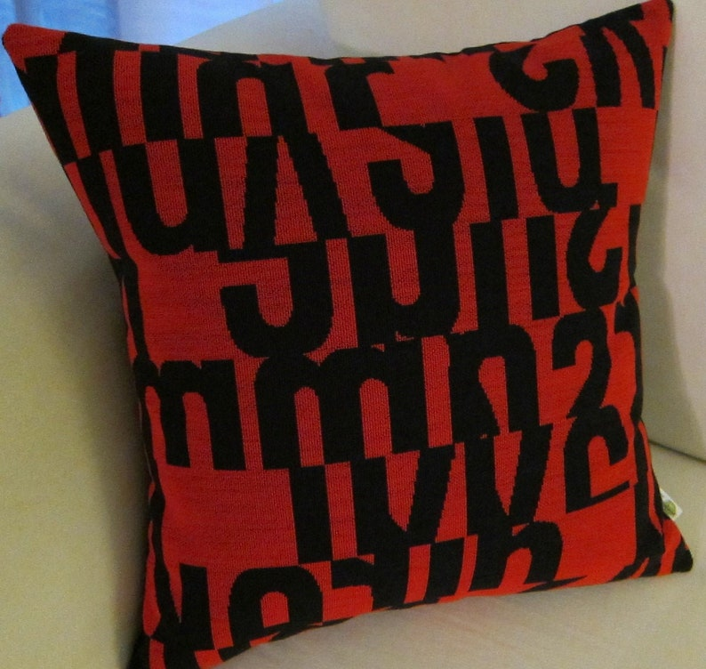 Mid Century Modern Pillow Cover   Maharam LETTERS pattern image 0