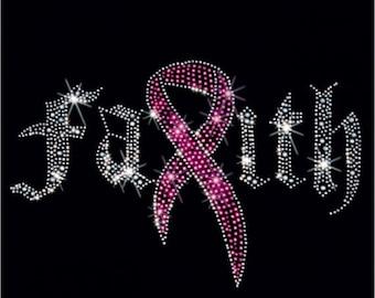 Breast cancer awareness bling apparel