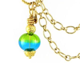 Charm Bracelet, Charm Bracelet Charms, Charm Bracelet Gold, Charm Bracelet Chain, Lampwork Glass Bead, Statement Bracelet, Turquoise, Green