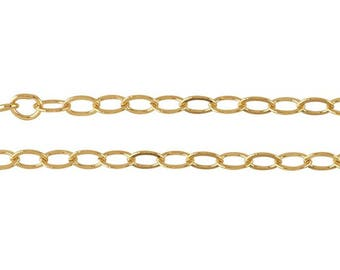 Gold Chain, 18 Inch Necklace, 18 Inch Gold Chain, Gold Filled Chain, Gold Filled Necklace, Loop Necklace, Gold Circle Necklace, DIY Necklace