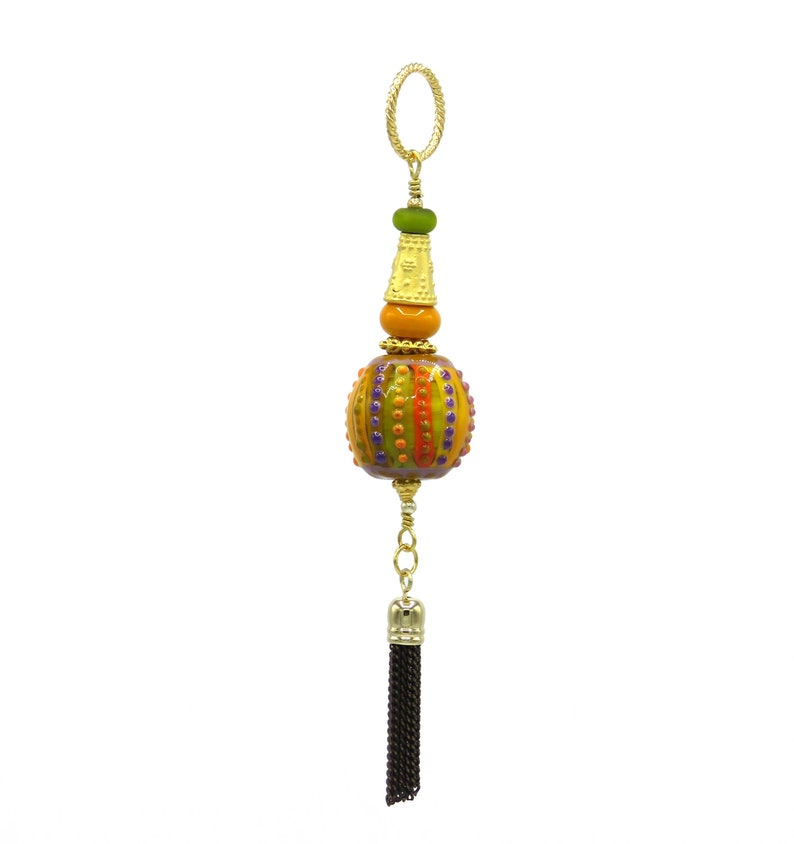 Bollywood Jewelry Indian Pendant Multicolor Necklace Tassel image 0