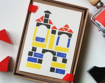 Building Blocks - Stamped Ink Boxed Set of 8 Cards