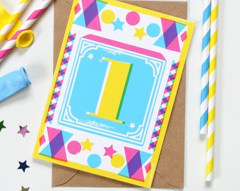 Kids' Age 1 - 10 Birthday Cards