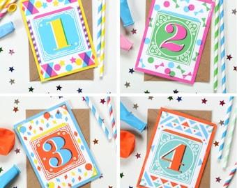 Kids' Age Birthday Cards 1 - 10