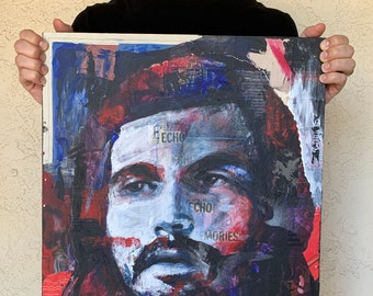 """R. Anderson - 18x24"""" Mixed Media Portrait Painting"""