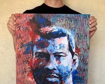 "Peele - 18x24"" Jordan Peele Acrylic Portrait Painting"