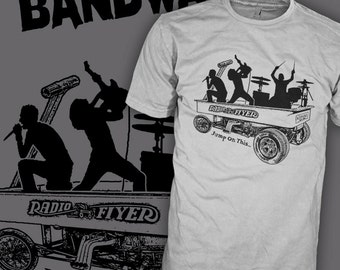 cec98007d Jump on this Bandwagon Shirt - Funny Cult Parody Shirt - Rock Band Art Wagon  T-Shirt. HipSoul