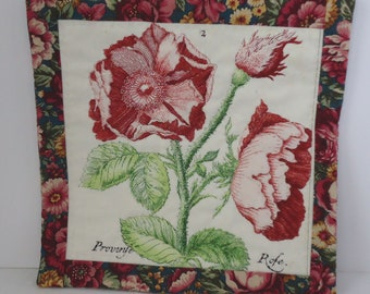Quilted Mug Rug Candle Mat Coaster Flowers