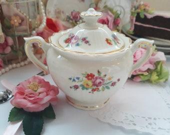 Vintage Floral Sugar Bowl Syracuse - Weddings Bridal