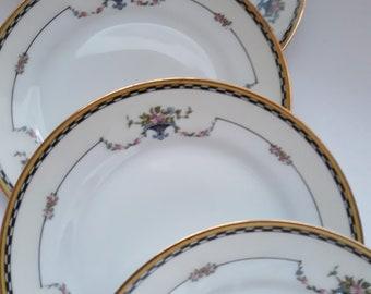 Vintage Noritake Rosemary Dessert Plates Elegance Set of Five