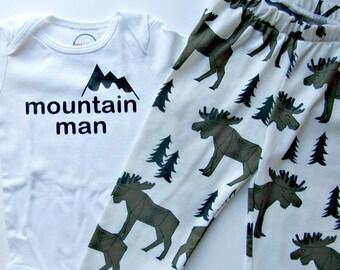 Lumberjack baby outfit lumberjack baby shower Plaid baby shower Buffalo Plaid Baby Baby Leggings Boy Mountain baby Shower Baby Boy Outfit