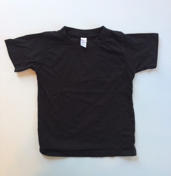 Blank Black Baby And Toddler Tshirt Cotton Short Sleeve Shirts Etsy