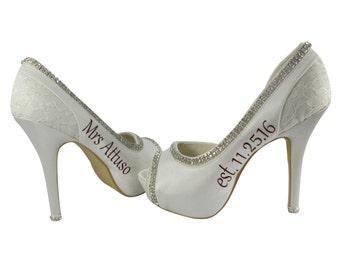 586ce093353939 Ivory or White Bridal Wedding Heels