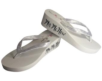ad1f3087662b7e Wedding Bridal Flip Flops for Bride   by BridalFlipFlops on Etsy
