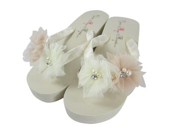 b163635979a8 Wedding Bride Bridal Flip Flops