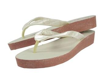 94cd37dda4a Wedding Bridal Flip Flops for Bride   by BridalFlipFlops on Etsy