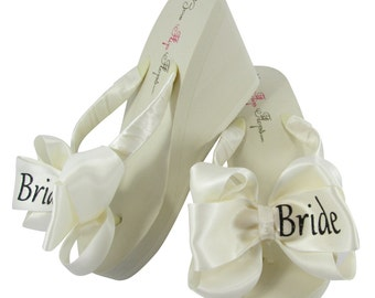 cdcbf57593eed9 Design your Bride Flip Flops
