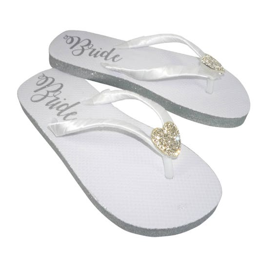amp; White choose colors Shimmer on Embellishment silver Flat the Bride Rhinestone Flops Customized Sole Flip with Starfish Glitter p6pP4F