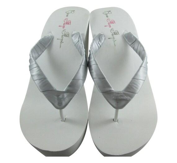 mari couleurs beaucoup blanc de Ivory mariage Platine coin Flops amp; Flip tongs argent sandales de qxwnSg