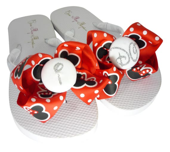 or Flip for Wedding Wedge Glitter Sandals Flops Pink Mouse Bride's I DO Hot Wedding the Minnie Flat Bow Disney Bwq0UPx6F