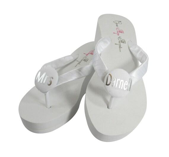 Corail pour mari mariage or Flip dernier Mme et sandales la Flops nom rzPWnrx
