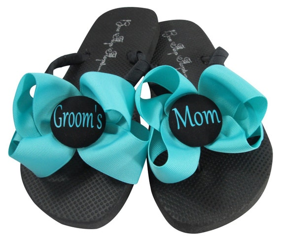 Purple personalized Flip Wedding Bow Flops wAxgZxRq