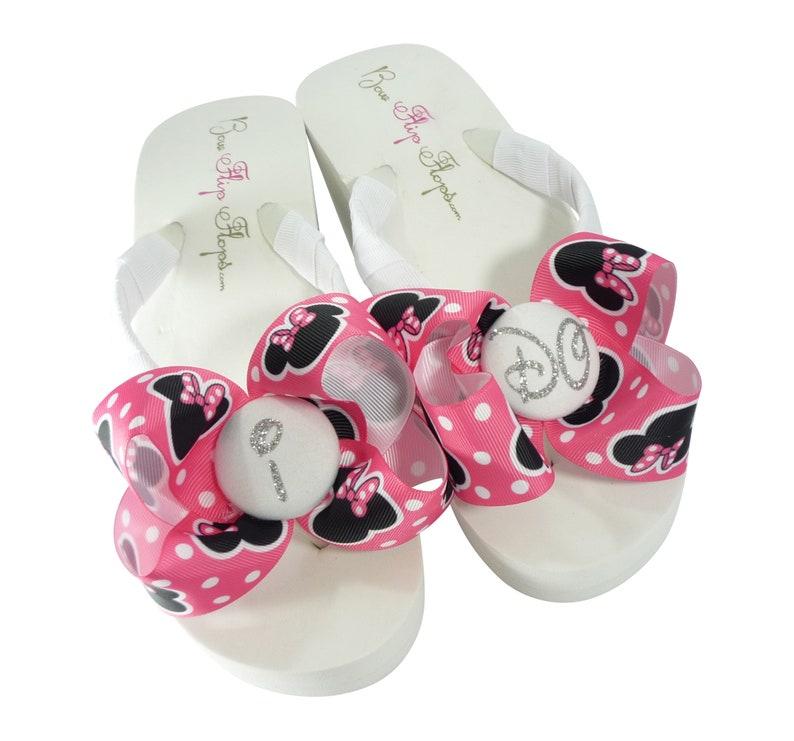 c160e0932c8e77 Bridal Flip Flops for Disney wedding Glitter I DO flip flops