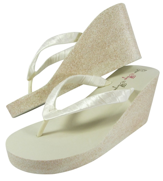 Height the inch for Colors Wedges and Choose Glitter Bling amp; Heel Bridal for Bride Platform Silver Bridesmaids Flops 2 Flip the 8wa5S