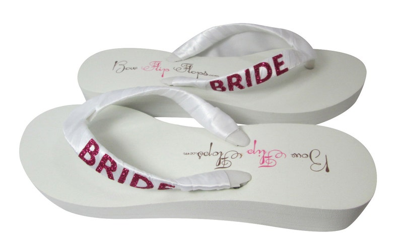 aa21003ed9a57 Bride Wedge Flip Flops