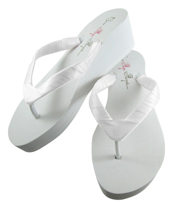 straps Flops Sandals Satin Wedges wrapped Wedding Ivory Bridesmaid Plain White or Red Shoes Bridal Flip Beet Zw1nqxgSp