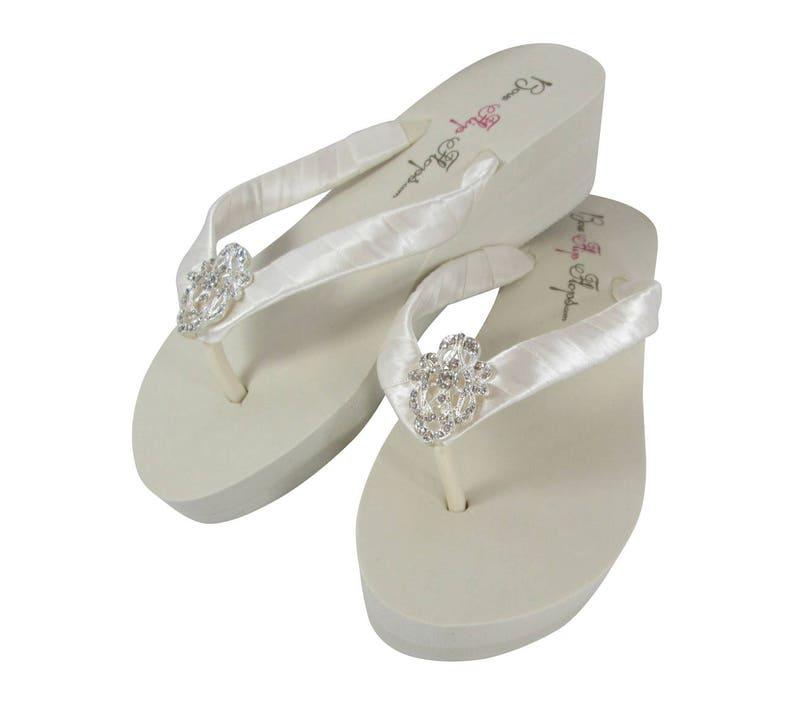 0bf0857c6 Ivory   Antique Vintage Lace Wedding Flip Flops with