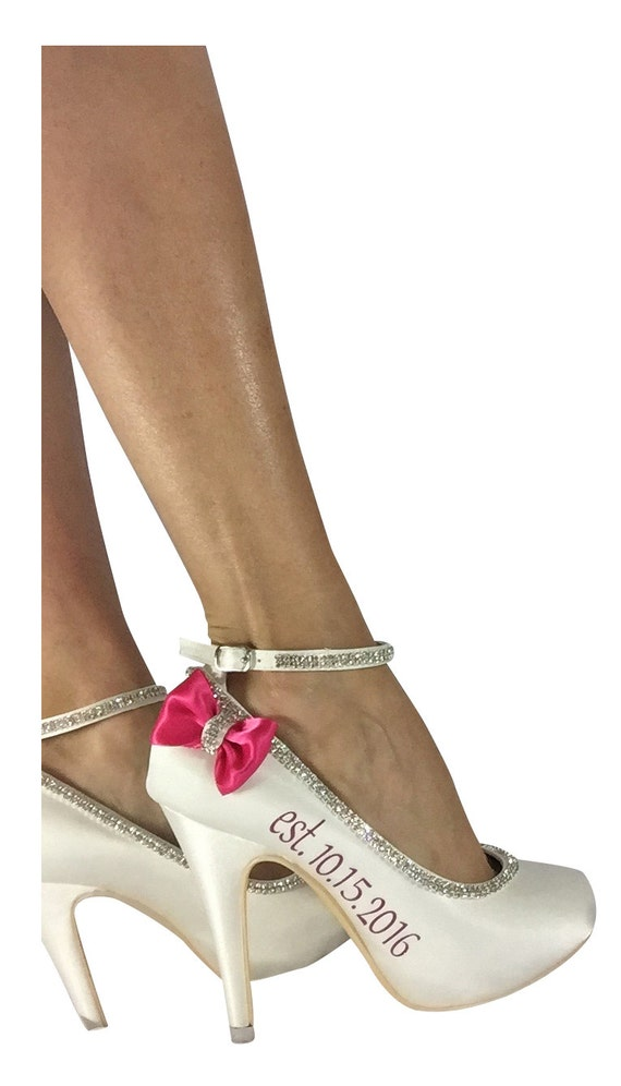 Ivory Strappy Name Heel Bridal Shoes Customizable Mrs amp; in inch Wedding Rhinestone Teal Heels Bling Stilettos Pump 4 SxxqgfB
