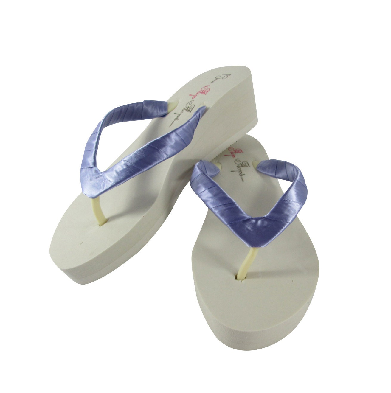 Tropic Lilac And Ivory 2 Inch Wedge Flip Flops Wedding Flip  Etsy-1118